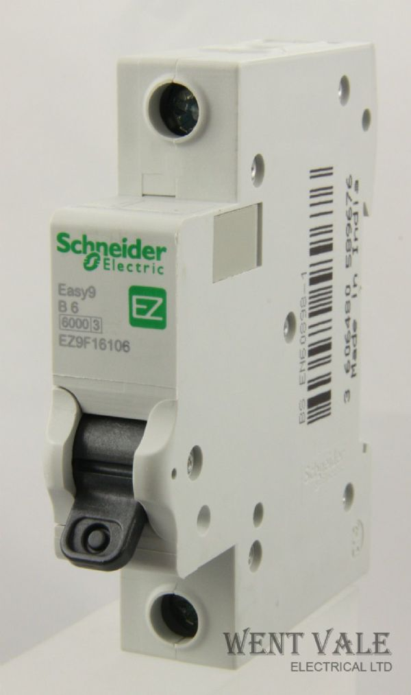 Schneider Easy 9 - EZ9F16106 - 6a Type B Single Pole MCB Un-used